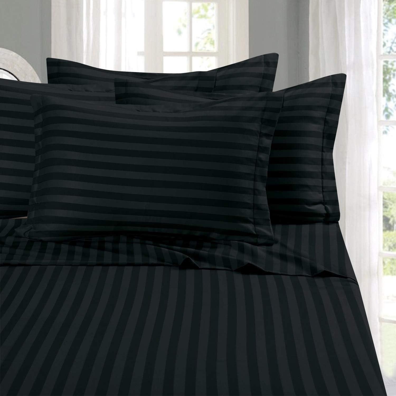 Elegant Comfort Best, Softest, Coziest 6-Piece Black Bed Sheet Sets
