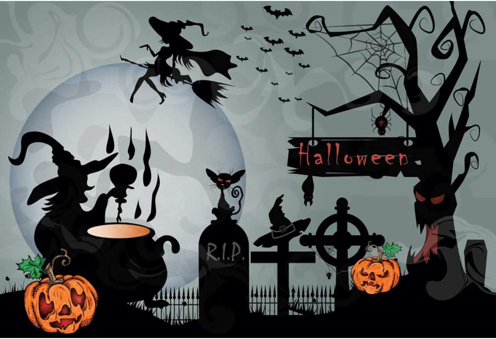 Leowefowa Max 48% OFF 1.5x1m Vinyl Sce wholesale Backdrop Halloween