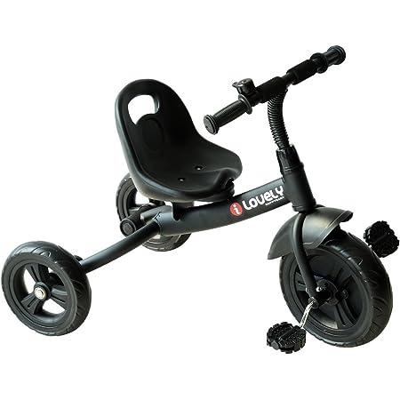 HOMCOM Triciclo para Niños más de 18 Meses con Timbre Guardabarros Rueda de Seguridad 74x49x55cm Negro