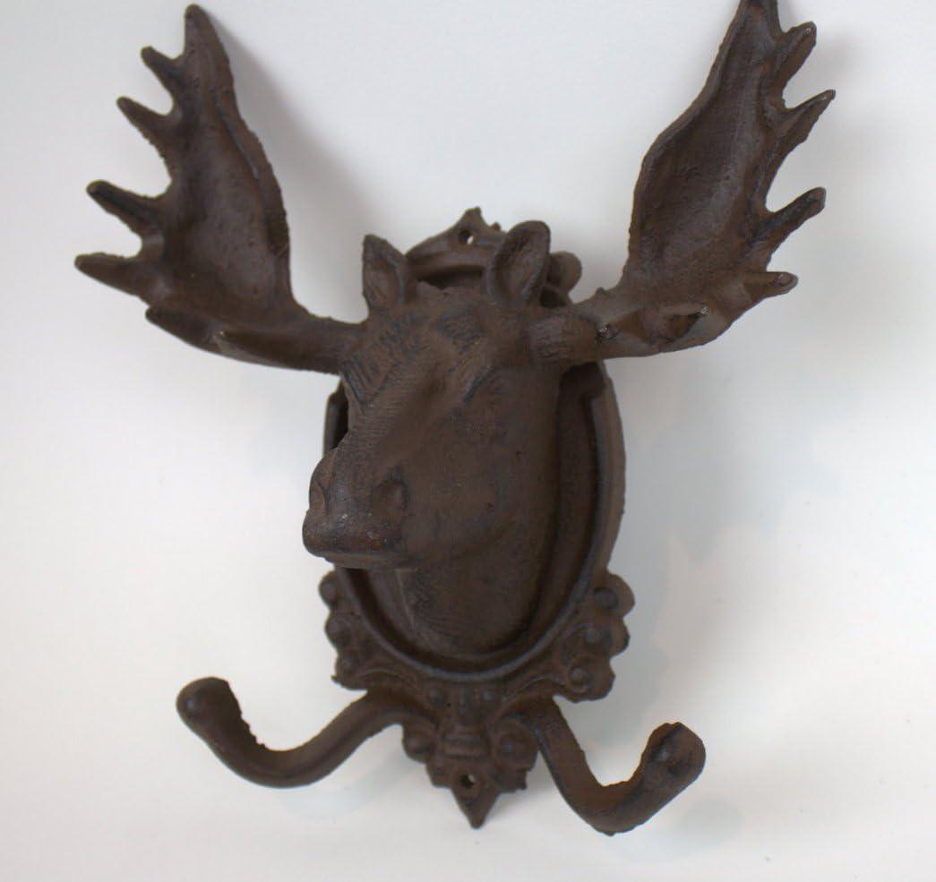 Set of 3 Pcs Wall Mounted Stag Head Ibex /& Moose Robe Hooks Aluminium
