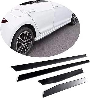 MCARCAR KIT Side Skirts Trims fits Volkswagen VW Golf VII MK7 7.5 Base R Line GTI R Hatchback 2014-2019 Add-on Under Door Rocker Panels Valance Extension Aprons Lip Protector (ABS)