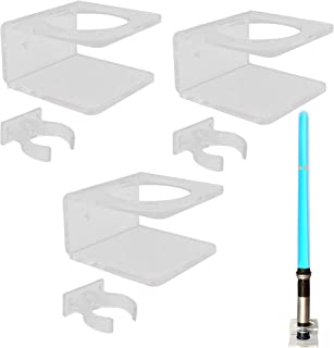 YYST Clear Light Saber Wall Mount Wall Rack Wall Holder - 3 Pack