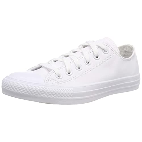 73da4fc90d74 White Leather Converse  Amazon.co.uk