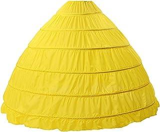 Happydress Sottogonna Sposa Sottoveste da Sposa Abito da Ballo 1-Cerchio Petticoat Crinolina Sottoveste Bianca Lycra
