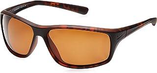نظارات شمسية بتصميم ملتف للرجال من نايك، 14 ملم، لون بني، المقاس، EV0606-64