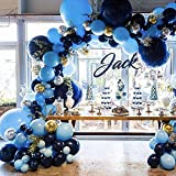 Pateeha Royal Blue Balloons 125 Pack 18 In 12 In 5 In, Blue Balloon Garland Arch kit Confetti Balloons for Baby Shower, Wedding, Birthday Party, Anniversary