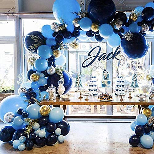 Pateeha Royal Blue Balloons 100 Pack 12 Inch, Latex Party Balloons Blue Arch kit Confetti Balloons for Baby Shower, Wedding, Birthday Party, Anniversary