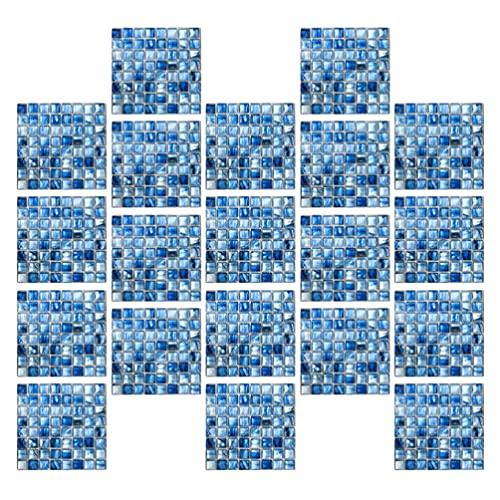 Homoyoyo 20 Piezas de Azulejos Adhesivos para Desprender Y Pegar Mosaico en Azulejos Mosaico Pegatinas para El Suelo Adhesivos para Desprender Y Pegar Azulejos para Cocina Baño