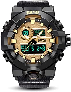 Xinew Analogue-Digital Multifunctional Outdoor Sports Dual Time Golden Dial Men's & Boy's Watch -371