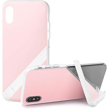 カンピーノ campino スマホケース iPhone XS・X 対応 パステル OLE stand スタンド機能 耐衝撃 スリム 薄型 ベビーピンク 桃