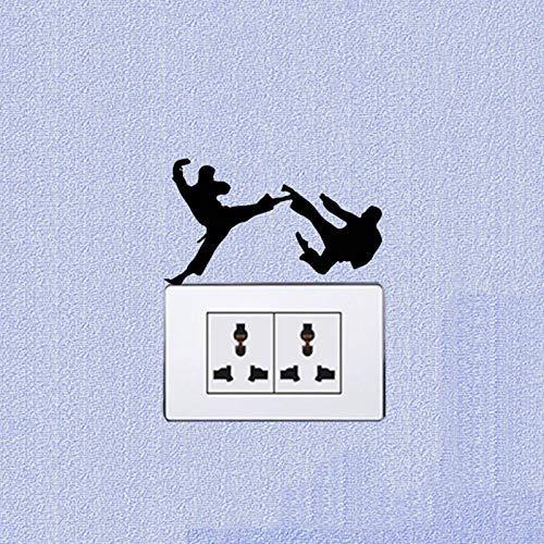 Lustiger Karate Persönlichkeit Vinyl Schalter , Aufkleber Wandtattoo