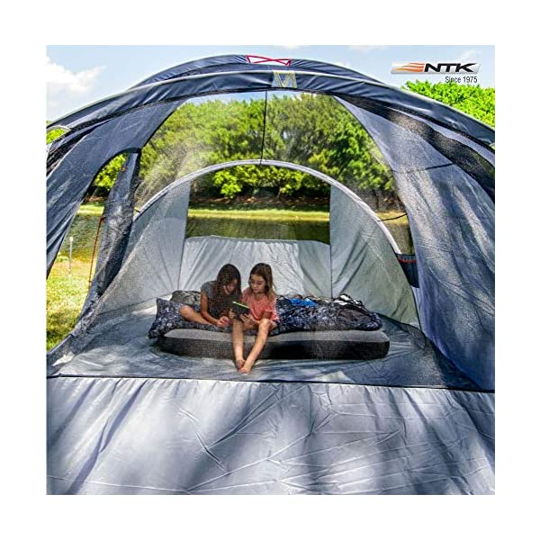 NTK Laredo Gt 8 To 9 Person 10 By 15 Foot Sport Camping Tent 100% Waterproof 2000Mm Dark Teal 1
