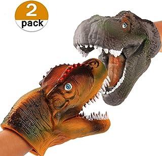 vamei 2 unids Dinosaurios Juguetes marioneta marioneta de Ma