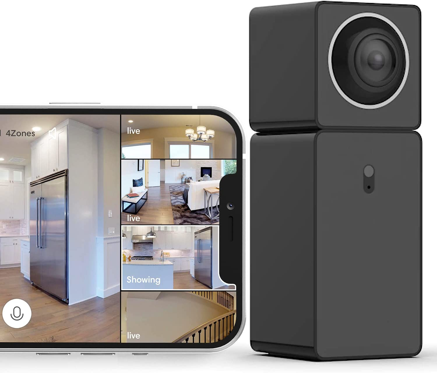 See 4 Areas with 1 Camera, Wi-Fi Home Security Camera with 360° Video Coverage, 2-Way Audio, Night Vision, Motion Detection, 1080P FHD, Indoor Cam with Alerts, Cloud Storage, Alexa & Google Assist