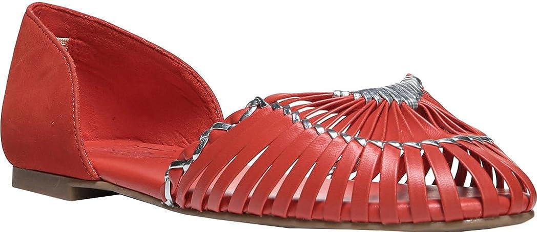 プロトタイプ後世マッシュFergie Womens Closed Toe Leather Slide Flats