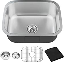 "Giantex Single Bowl Kitchen Sink 16 Gauge Stainless Steel Undermount Wash Sink with 9"" Deep (23''Lx18''Wx9''H)"