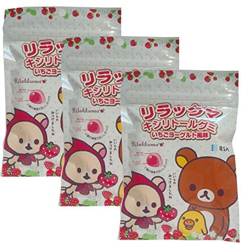 リラックマ キシリトールグミ (いちごヨーグルト風味) × 3袋 歯科専売品