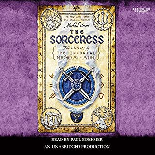 The Sorceress     Secrets of the Immortal Nicholas Flamel, Book 3              By:                                                                                                                                 Michael Scott                               Narrated by:                                                                                                                                 Paul Boehmer                      Length: 14 hrs and 3 mins     2,004 ratings     Overall 4.4