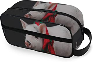 Toiletry Bag Funny Piglet Red Scarf Symbol New Makeup Organizer Cosmetic Bag Pouch For Women Girl Toiletry Bag Small