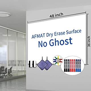 White Board Sticker, Dry Erase Contact Paper, Peel and Stick White Board, White Board Stickers for Wall, Dry Erase Paper Roll with Adhesive Backing, 9 Markers, No Ghost, 48x36 Inch