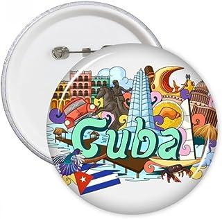DIYthinker Guantanamo Trinidad Cuba Pins Graffiti Round Badge Bouton Vêtements Décoration cadeau 5pcs Multicolore S