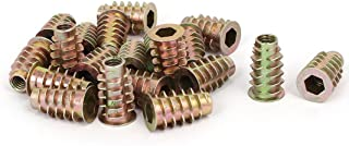 DealMux M6 x 20mm Hex Head Insert Screws E-Nuts Furniture Fittings with Flanged End 20pcs