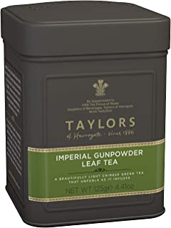 Sponsored Ad - Taylors of Harrogate Imperial Gunpowder Green Tea Loose Leaf, 4.41 Ounce Tin (Pack of 2)