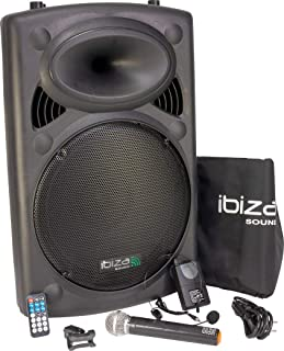 comprar comparacion Ibiza Sound PORT15VHF-BT Sistema de sonido portátil y autónomo de 15