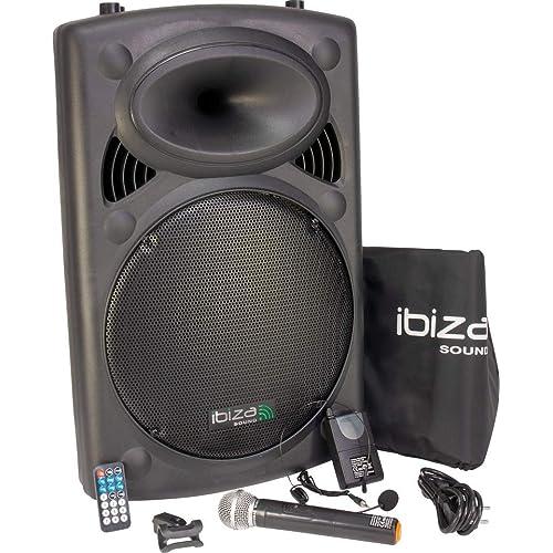 Ibiza PORT15VHF-BT - Sistema de sonido portátil y autónomo de 15