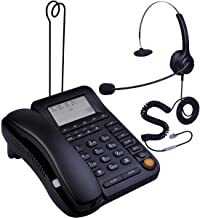 HePesTer P-017BN-2 Call Center Corded Phone with Headset Caller ID Speakerphone Home..