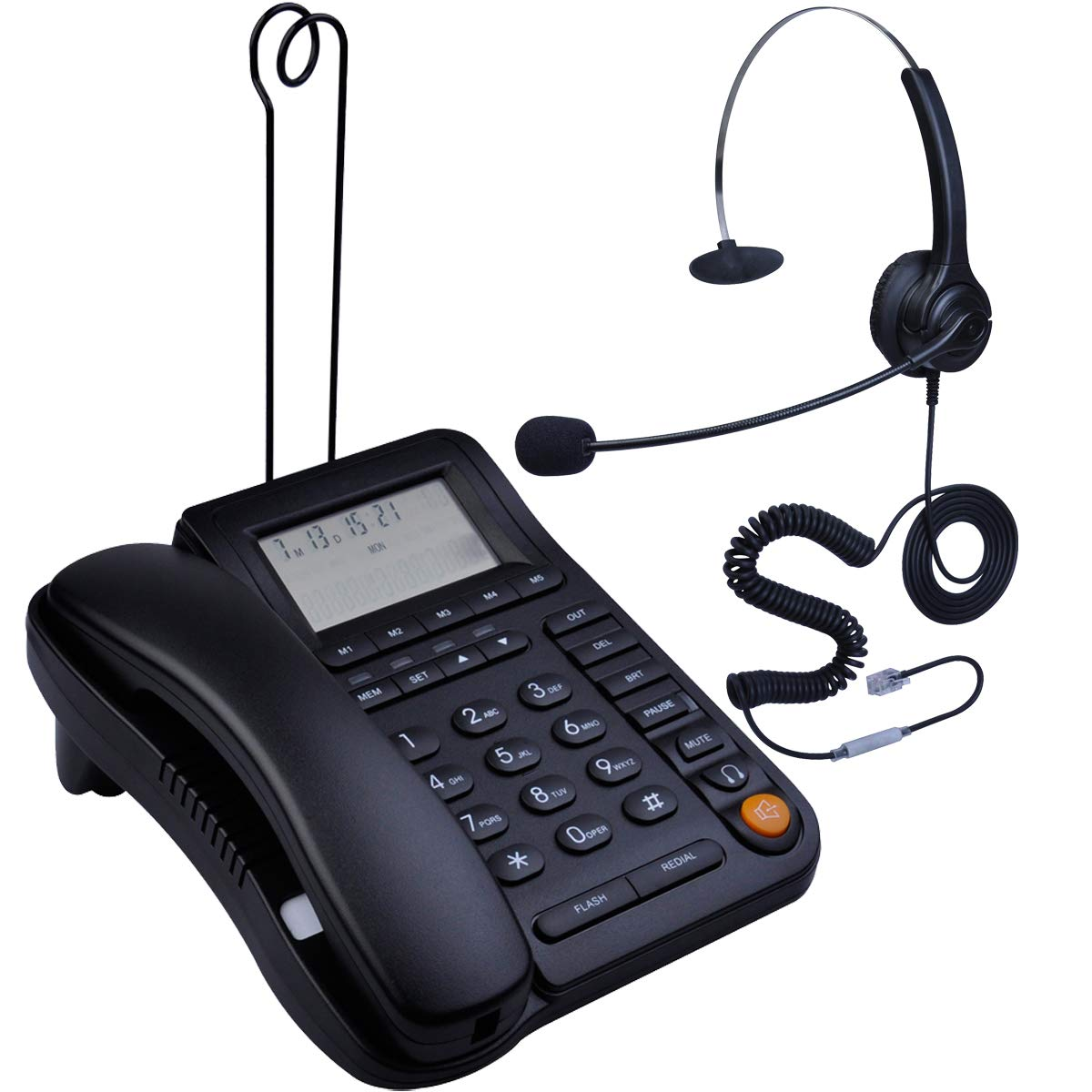 HePesTer P 017BN 2 Speakerphone Landline Telephone