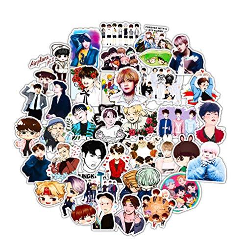 Wow Stickers My Hero Academia Anime-Aufkleber für Teenager, Cartoon, Laptop, für Skateboard, Snowboard, Gepäck, Auto, Motorrad, 70 Stück BTS-Aufkleber, 50 Stück.