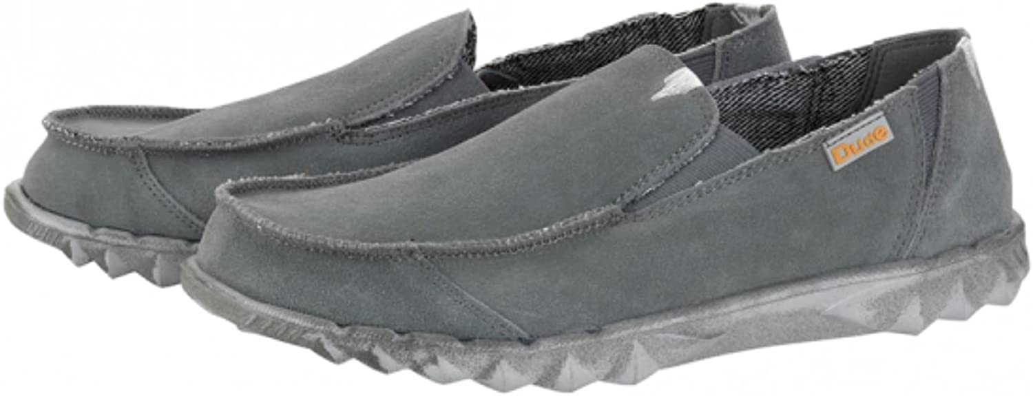 Hey Dude Slip On Men shoes Farty Grey Fume Suede Mule Leather Lined Insole