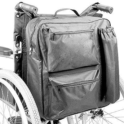 RECOMENDAMOS ✅ Bolsa Multifunción para Silla De Ruedas. Es una mochila de almacenamiento impermeable con Múltiples Bolsillos Traseros Acolchados