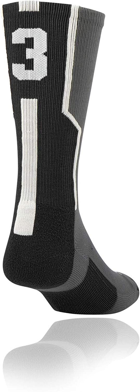 Twin City Player ID Sock (Single Sock) Graphite/Black/White Medium