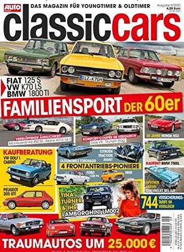 "Auto Zeitung Classic Cars 9/2020 \""Familiensport der 60er\"""