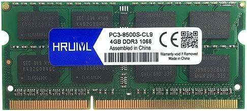 HRUIYL for Apple 4GB DDR3 1067MHz / 1066MHz 1067/1066 PC3-8500 PC3-8500s SODIMM Memory RAM for MacBook, MacBook Pro, iMac, Mac Mini A1342 A1278 A1286 A1297 A1224 A1225 A1311 A1312 A1283 A1347