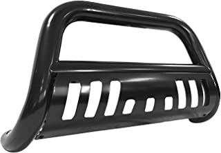 Black Bull Bar Bumper Brush Guard with Skid Plate Fits 99-07 Silverado/Sierra Classic 1500LD/ 02-06 Chevy Tahoe/Avalanche 1500/ 00-06 Chevrolet Suburban/ GMC Yukon / Yukon XL 1500