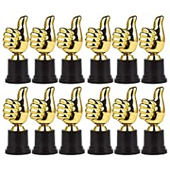 3 Dozen Thumbs Up Award Trophies. (36 Trophies) Trophies Measure 5 Inches. Quality Gold Tone Safe Plastic with Black Plastic Base Ideal For Parties, Sports Presentations, Award Ceremonies and Special Events