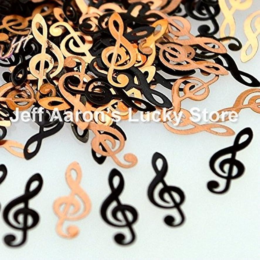 評判瞬時に血統Ithern(TM)ブラック楽譜金属ネイル箔デカールは、3Dネイルアート装飾デザインツールのためのネイルスパンコールをスライス