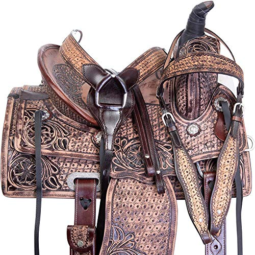 """Star Trading Company Little Cowboy Western Roping Leather Horse Saddle Youth Kids TACK Set 10"""" 12"""" 13"""" 14"""