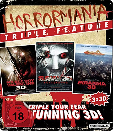 Horrormania Triple Feature (3 Discs, Steelbook) [3D Blu-ray]