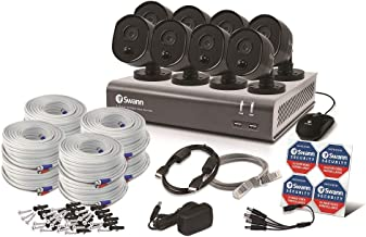 Swann 8 Channel Security System, DVR-4580V Series with 8 x 1080p Cameras, Grey