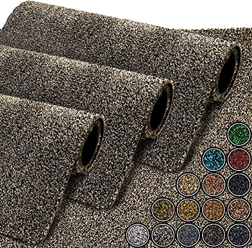 GadHome Felpudo Absorbente, Granito / Luxe 40 cm x 60 cm | Alfombrilla Antideslizante para Interior y Exterior | Alfombra de Puerta de Algodón Suave, Lavable y de Secado Rápido