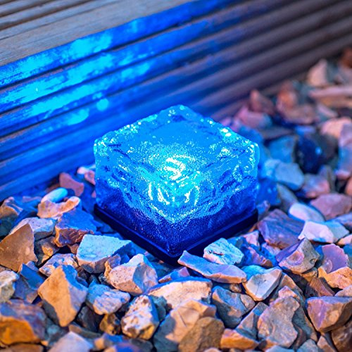 EONHUAYU Solar Ice Lights LED tegels Crystal Brick Light voor Indoor Pathways Indoor Path en Garden