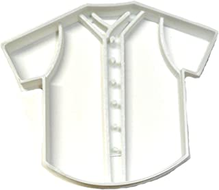 BASEBALL JERSEY WITH DETAILS TEAM OUTFIT UNIFORM ATHLETIC WEAR MLB SPECIAL OCCASION COOKIE CUTTER BAKING TOOL 3D PRINTED MADE IN USA PR2541