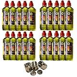 Gelkamine Ethanolkamine + Zubehör 20 Liter Hochleistungs Brenngel & 3 Leere Brennstoffdosen 0,25 Liter