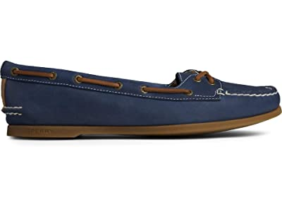 Sperry A/O Skimmer Leather (Navy) Women