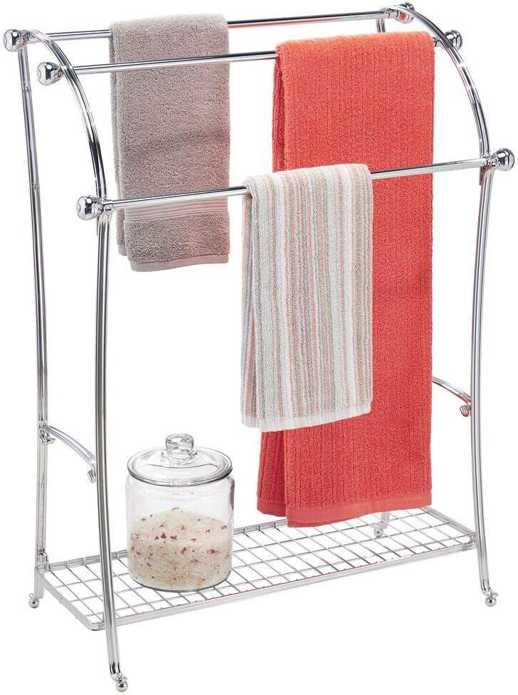 mDesign Colgador de toallas con 3 barras