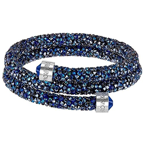 Swarovski Crystaldust Armreif, doppelt, blau, klein, 5255903